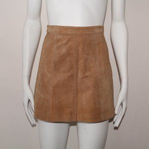 H&M Tan Suede Leather Skirt